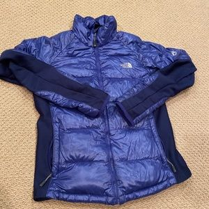 Women's the north face puffer zip up jacket